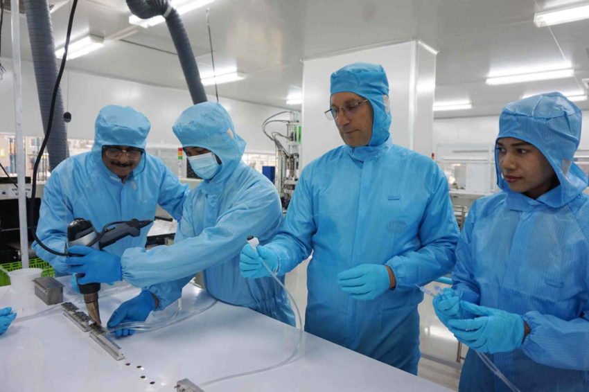strict clean room inspection